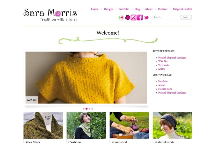 The new homepage.